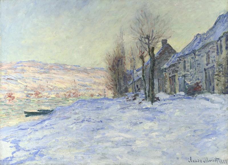 Claude-Oscar Monet - Lavacourt under Snow. Part 2 National Gallery UK
