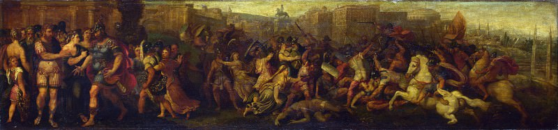 Follower of Giulio Romano - The Intervention of the Sabine Women. Part 2 National Gallery UK