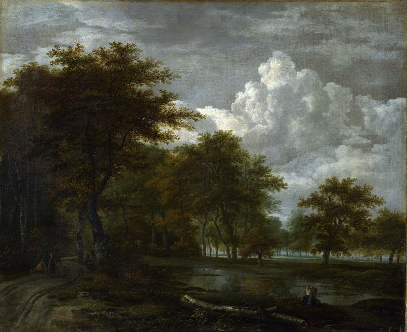 Follower of Jacob van Ruisdael - The Skirts of a Forest. Part 2 National Gallery UK