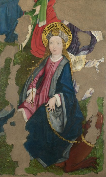Circle of the Master of Liesborn - Saint Margaret. Part 2 National Gallery UK