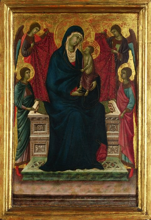 Follower of Duccio - The Virgin and Child with Four Angels. Part 2 National Gallery UK