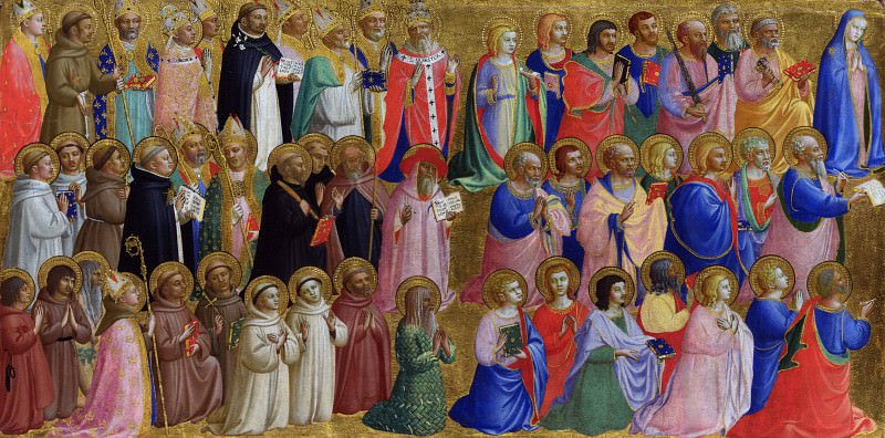 Fra Angelico - The Virgin Mary with the Apostles and Other Saints. Part 2 National Gallery UK