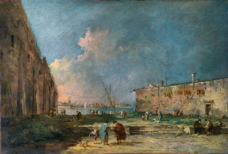 Francesco Guardi - A View near Venice. Part 2 National Gallery UK