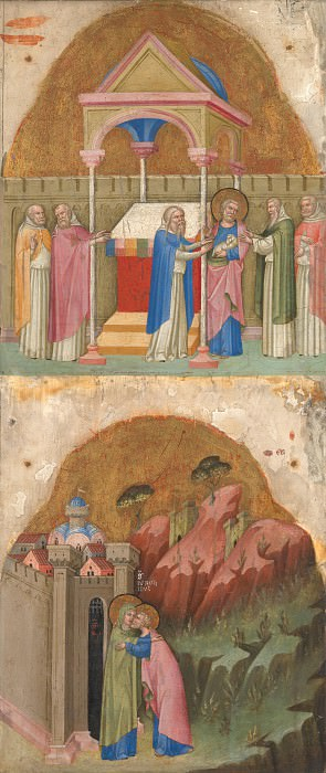 Dalmatian - Saint Joachim s Offering; Meeting at the Golden Gate. Part 2 National Gallery UK