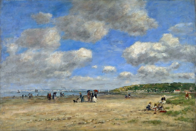 Eugene Boudin - The Beach at Tourgeville les Sablons. Part 2 National Gallery UK