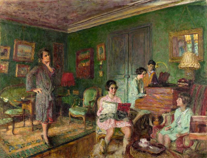 Edouard Vuillard - Madame Andre Wormser and her Children. Part 2 National Gallery UK