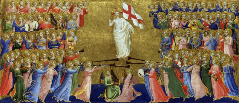 San Domenico Altarpiece - Christ Glorified in the Court of Heaven. Fra Angelico