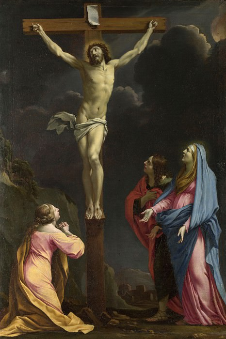 Eustache Le Sueur - Christ on the Cross with the Virgin and Saints. Part 2 National Gallery UK