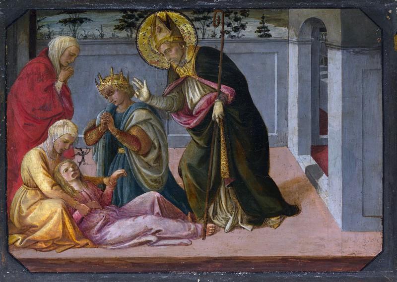 Фра Филиппо Липпи и мастерская - Святой Зенон воскрешает дочь императора Галлиена. Часть 2 Национальная галерея