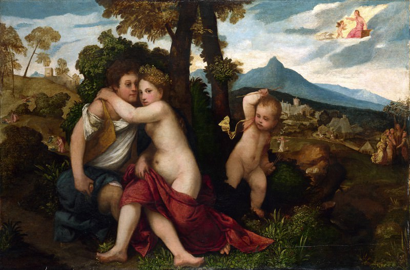 Follower of Titian - Mythological Scene. Part 2 National Gallery UK