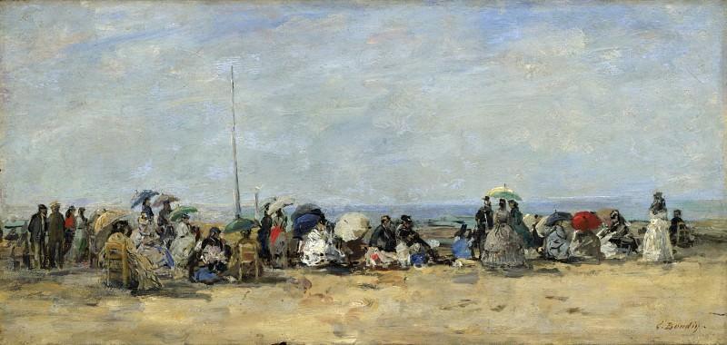 Eugene Boudin - Beach Scene, Trouville. Part 2 National Gallery UK