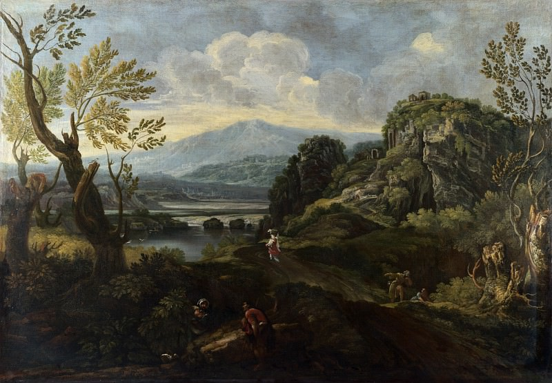 Crescenzio Onofri - Landscape with Figures. Part 2 National Gallery UK