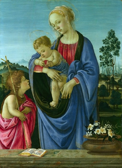 Filippino Lippi - The Virgin and Child with Saint John. Part 2 National Gallery UK