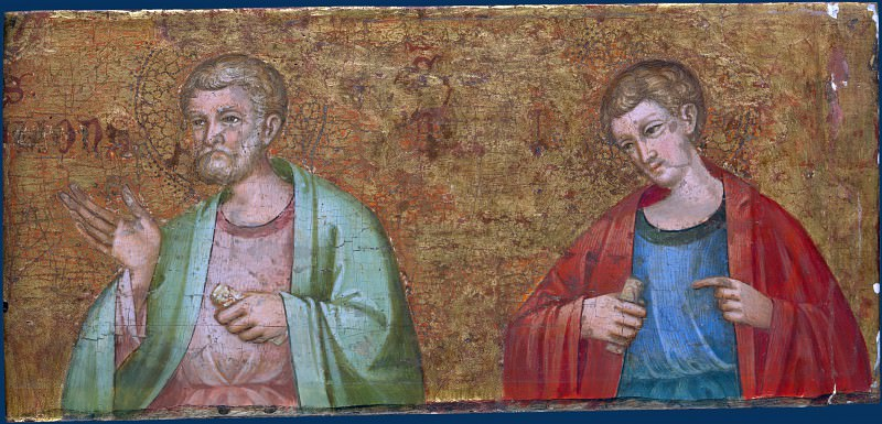 Dalmatian - Two Apostles - Fragment of Predella. Part 2 National Gallery UK