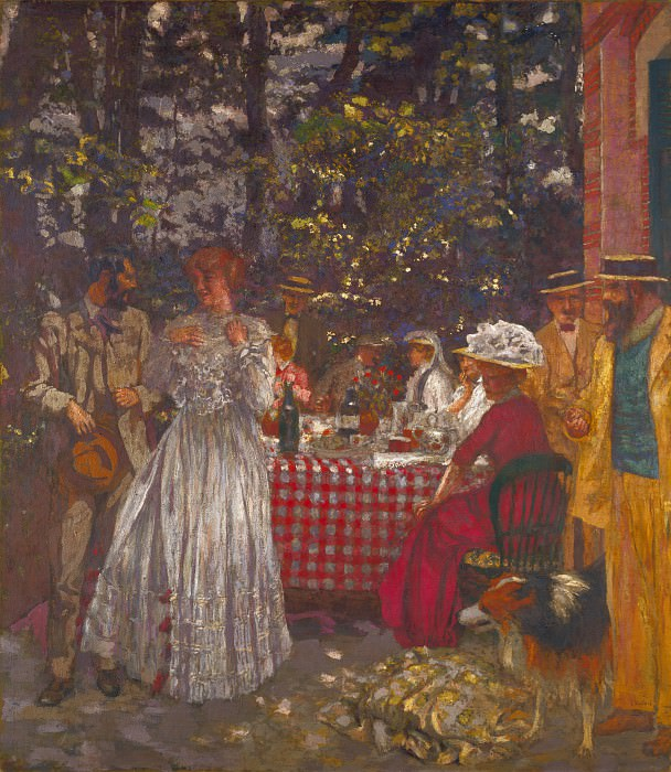 Edouard Vuillard - The Terrace at Vasouy, the Lunch. Part 2 National Gallery UK