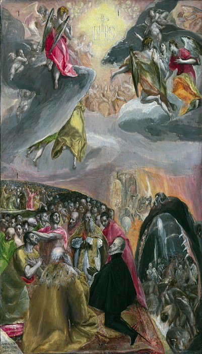 El Greco - The Adoration of the Name of Jesus. Part 2 National Gallery UK