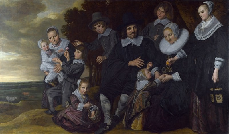 Frans Hals - A Family Group in a Landscape. Part 2 National Gallery UK