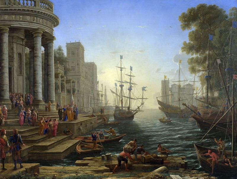 Claude - Seaport with the Embarkation of Saint Ursula. Part 2 National Gallery UK