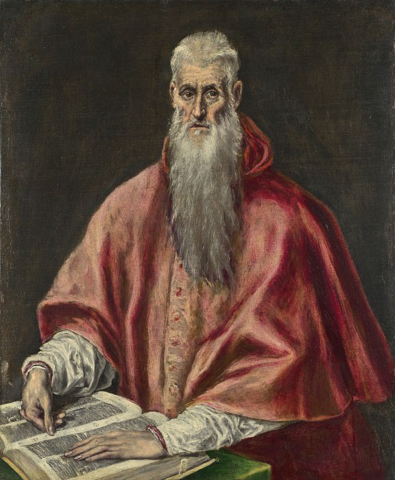 El Greco - Saint Jerome as Cardinal. Part 2 National Gallery UK