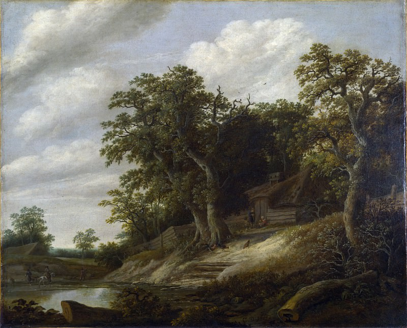 Cornelis Decker - A Cottage among Trees on the Bank of a Stream. Part 2 National Gallery UK
