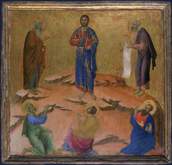 Duccio - The Transfiguration. Part 2 National Gallery UK