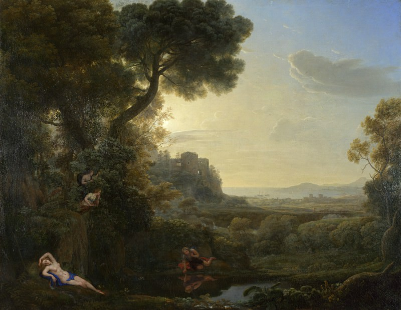 Claude - Landscape with Narcissus and Echo. Part 2 National Gallery UK