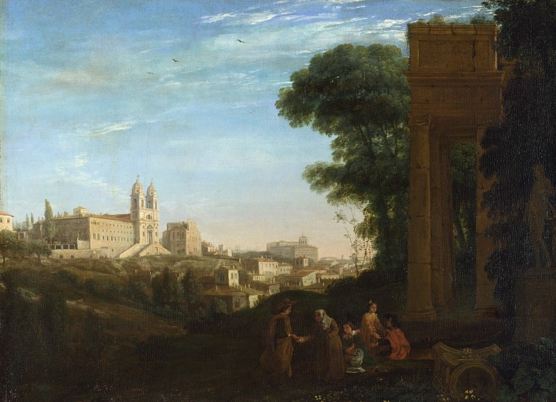 Claude - A View in Rome. Part 2 National Gallery UK