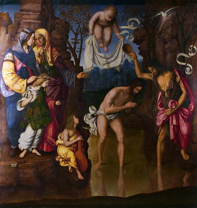 Francesco Zaganelli - The Baptism of Christ. Part 2 National Gallery UK