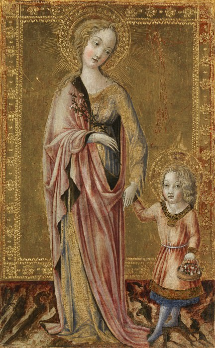 Francesco di Giorgio - Saint Dorothy and the Infant Christ. Part 2 National Gallery UK