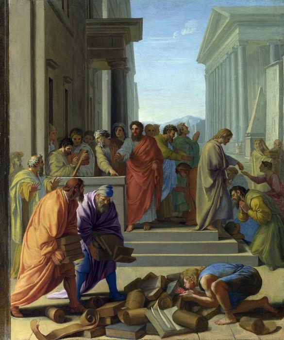 Eustache Le Sueur - Saint Paul preaching at Ephesus. Part 2 National Gallery UK