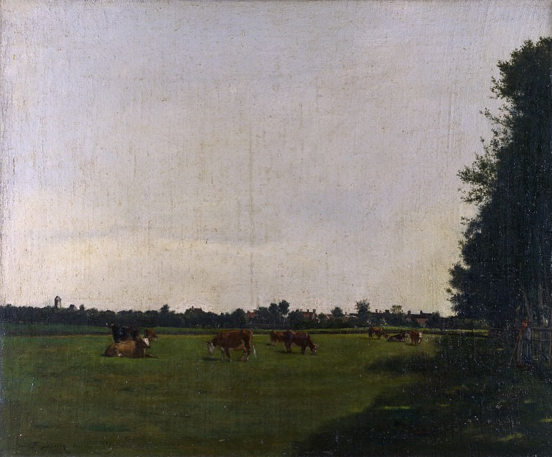 Francois Bonvin - The Meadow. Part 2 National Gallery UK
