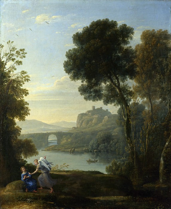 Claude - Landscape with Hagar and the Angel. Part 2 National Gallery UK