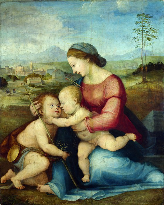 Fra Bartolommeo - The Madonna and Child with Saint John. Part 2 National Gallery UK