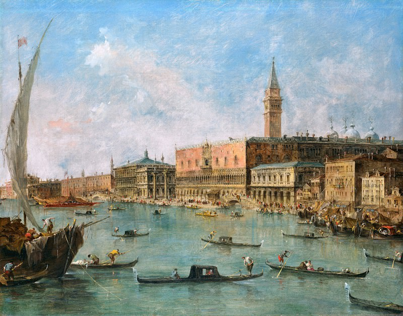 Francesco Guardi - Venice - The Doge s Palace and the Molo. Part 2 National Gallery UK