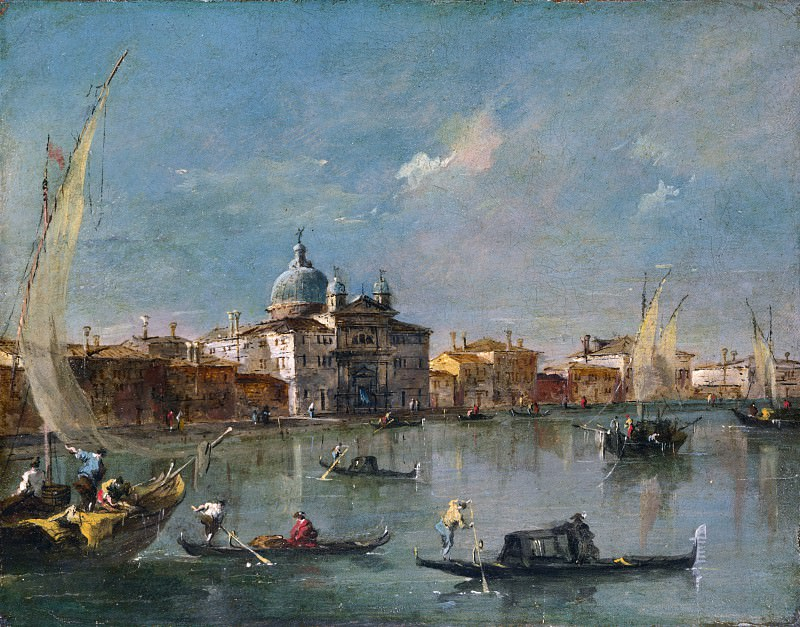 Francesco Guardi - Venice - The Giudecca with the Zitelle. Part 2 National Gallery UK