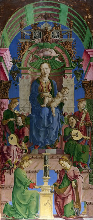 Cosimo Tura - The Virgin and Child Enthroned. Part 2 National Gallery UK