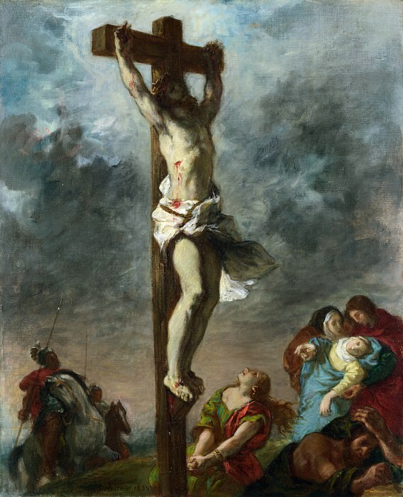 Eugene Delacroix - Christ on the Cross. Part 2 National Gallery UK