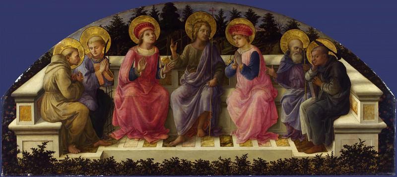 Fra Filippo Lippi - Seven Saints. Part 2 National Gallery UK