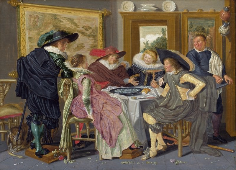 Dirck Hals - A Party at Table. Part 2 National Gallery UK
