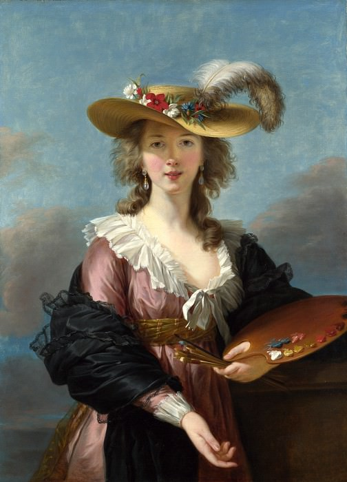Elizabeth Louise Vigee Le Brun - Self Portrait in a Straw Hat. Part 2 National Gallery UK