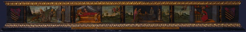 Francesco Botticini - Scenes from the Life of Saint Jerome - Predella. Part 2 National Gallery UK