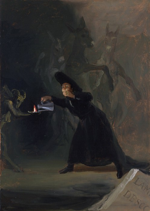 Francisco de Goya - A Scene from The Forcibly Bewitched. Part 2 National Gallery UK