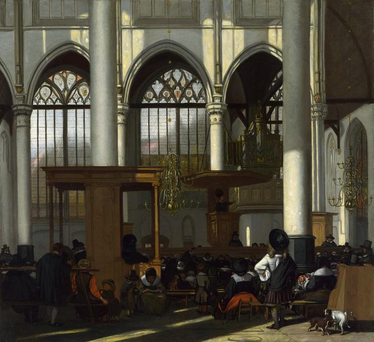 Emanuel de Witte - The Interior of the Oude Kerk, Amsterdam. Part 2 National Gallery UK