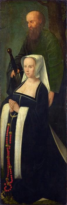 Followers of Gerard David - Saint Paul and a Donatrix. Part 2 National Gallery UK