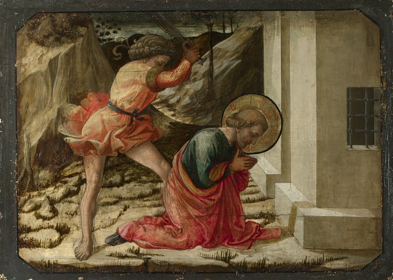 Fra Filippo Lippi and workshop - Beheading of Saint James the Great - Predella Panel. Part 2 National Gallery UK