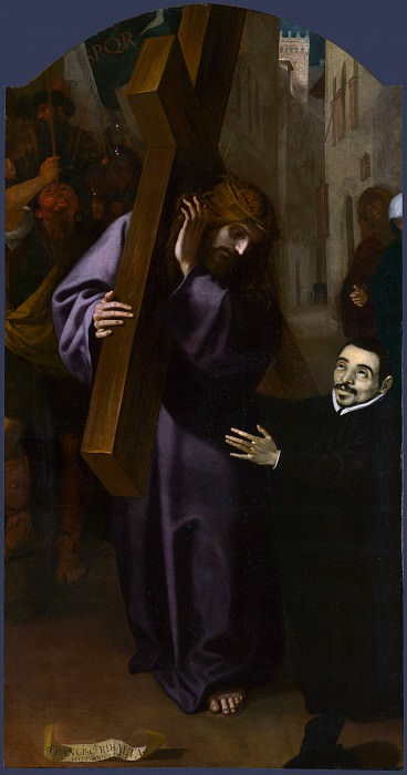 Francisco Ribalta - The Vision of Father Simon. Part 2 National Gallery UK