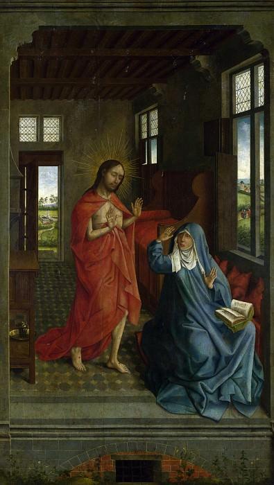 Follower of Rogier van der Weyden - Christ appearing to the Virgin. Part 2 National Gallery UK