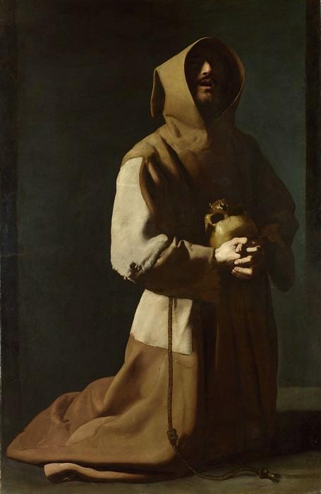 Francisco de Zurbaran - Saint Francis in Meditation. Part 2 National Gallery UK