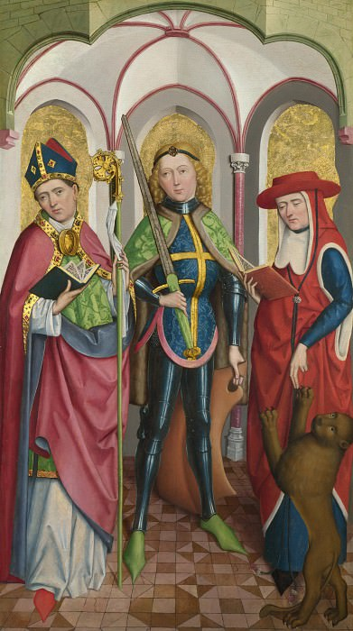 Circle of the Master of Liesborn - Saints Ambrose, Exuperius and Jerome. Part 2 National Gallery UK