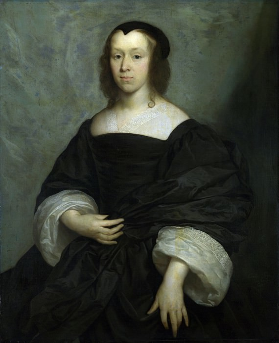 Cornelius Johnson - Portrait of a Lady. Part 2 National Gallery UK